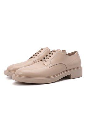 Женская кожаные туфли GIANVITO ROSSI бежевого цвета, арт. G25215.20G0M.SRAM0US | Фото 1 (Материал внутренний: Натуральная кожа; Каблук высота: Низкий; Подошва: Платформа)
