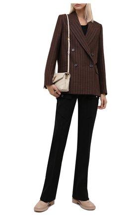 Женская кожаные туфли GIANVITO ROSSI бежевого цвета, арт. G25215.20G0M.SRAM0US | Фото 2 (Материал внутренний: Натуральная кожа; Каблук высота: Низкий; Подошва: Платформа)