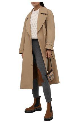 Женские брюки POLO RALPH LAUREN серого цвета, арт. 211845970   Фото 2 (Материал внешний: Синтетический материал, Шерсть; Длина (брюки, джинсы): Стандартные; Женское Кросс-КТ: Брюки-одежда; Стили: Спорт-шик; Силуэт Ж (брюки и джинсы): Узкие)