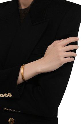 Женский браслет MAISON MARGIELA золотого цвета, арт. SM3UY0020/S12959   Фото 2 (Материал: Серебро)