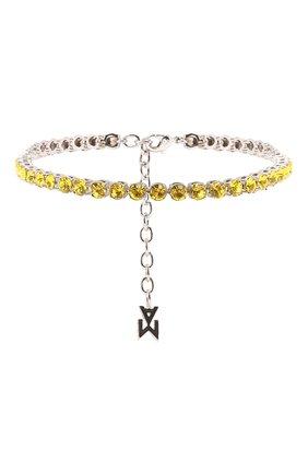 Мужского анклет AMINA MUADDI желтого цвета, арт. TENNIS ANKLET/CRYSTALS SILVER BASE/GLASS   Фото 1