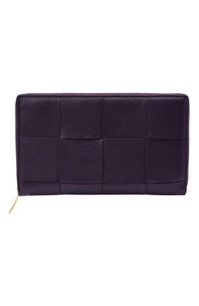 Женские кожаный кошелек maxi intreccio BOTTEGA VENETA фиолетового цвета, арт. 651368/VCQC1 | Фото 1