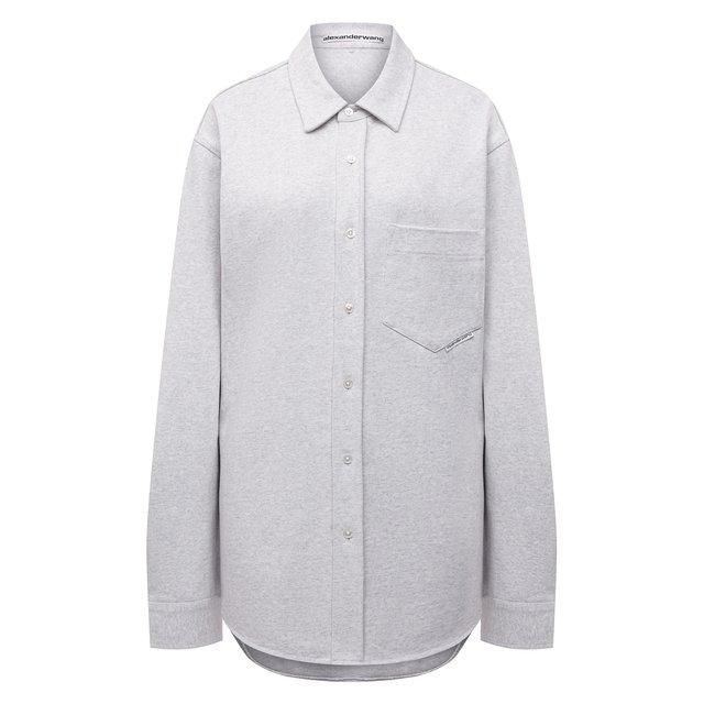 Хлопковая рубашка Alexander Wang 12235519