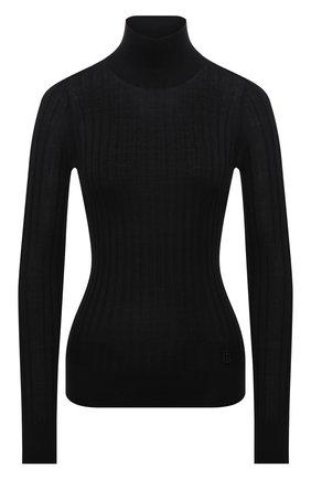 Женская шелковая водолазка BURBERRY черного цвета, арт. 8046341   Фото 1 (Рукава: Длинные; Длина (для топов): Стандартные; Материал внешний: Шелк; Женское Кросс-КТ: Водолазка-одежда; Стили: Кэжуэл)