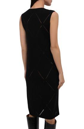 Женское шерстяное платье BURBERRY черного цвета, арт. 8044759   Фото 4 (Материал внешний: Шерсть; Случай: Повседневный; Кросс-КТ: Трикотаж; Длина Ж (юбки, платья, шорты): До колена; Женское Кросс-КТ: Платье-одежда; Стили: Кэжуэл)