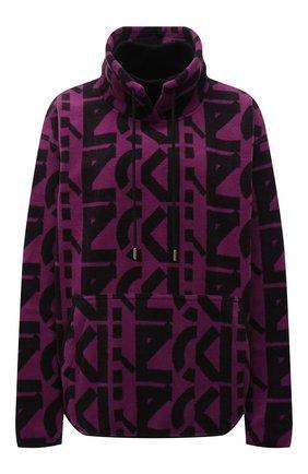 Женский свитшот kenzo sport KENZO фиолетового цвета, арт. FB62SW6364MR   Фото 1 (Материал внешний: Синтетический материал; Длина (для топов): Стандартные; Рукава: Длинные; Женское Кросс-КТ: Свитшот-одежда; Стили: Спорт-шик)