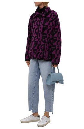 Женский свитшот kenzo sport KENZO фиолетового цвета, арт. FB62SW6364MR   Фото 2 (Материал внешний: Синтетический материал; Длина (для топов): Стандартные; Рукава: Длинные; Женское Кросс-КТ: Свитшот-одежда; Стили: Спорт-шик)
