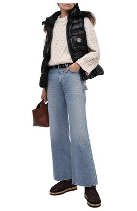Женские текстильные сапоги DOLCE & GABBANA леопардового цвета, арт. CK1893/A0868 | Фото 2 (Материал внутренний: Текстиль; Материал внешний: Текстиль; Подошва: Платформа; Высота голенища: Средние; Каблук высота: Без каблука; Каблук тип: Устойчивый)