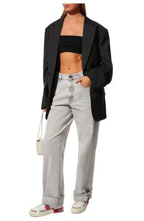 Женские кожаные кеды custom 2.zero DOLCE & GABBANA фуксия цвета, арт. CK1863/A0838 | Фото 2 (Подошва: Платформа; Материал внутренний: Натуральная кожа)