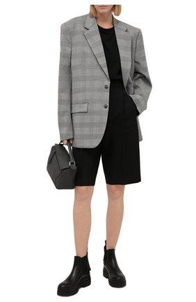 Женские кожаные ботинки REDVALENTINO черного цвета, арт. WQ0S0E38/ADW   Фото 2 (Каблук высота: Средний; Подошва: Платформа; Материал внутренний: Натуральная кожа; Женское Кросс-КТ: Челси-ботинки)