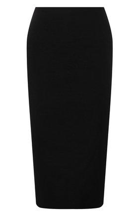 Женская юбка из шерсти и шелка VALENTINO черного цвета, арт. WB0RA8B06BS   Фото 1 (Материал подклада: Вискоза; Длина Ж (юбки, платья, шорты): До колена; Материал внешний: Шерсть; Женское Кросс-КТ: Юбка-одежда; Стили: Кэжуэл)