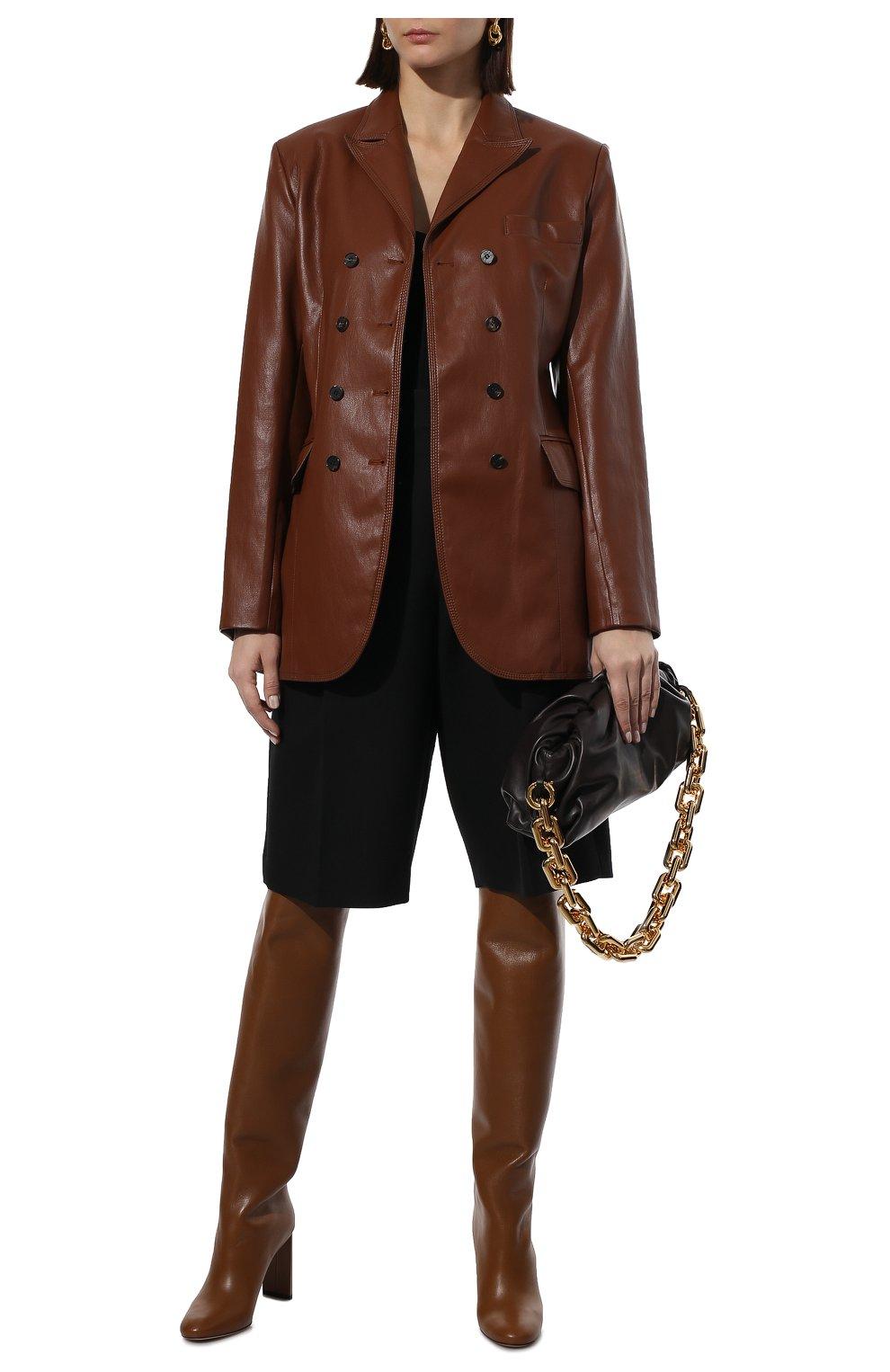 Женские шерстяные шорты-бермуды VALENTINO черного цвета, арт. WB0RD0A56LR   Фото 2 (Женское Кросс-КТ: Шорты-одежда; Материал внешний: Шерсть; Кросс-КТ: Широкие; Длина Ж (юбки, платья, шорты): Миди; Стили: Кэжуэл)