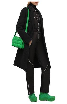 Женские текстильные ботинки puddle bomber BOTTEGA VENETA зеленого цвета, арт. 667218/VBSD7 | Фото 2 (Материал внутренний: Текстиль; Материал внешний: Текстиль; Женское Кросс-КТ: Хайкеры-ботинки; Каблук высота: Низкий; Подошва: Платформа)