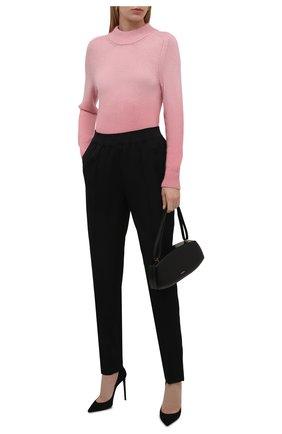 Женский свитер TOM FORD розового цвета, арт. MAK1095-YAX337 | Фото 2 (Материал внешний: Кашемир, Шерсть; Рукава: Длинные; Длина (для топов): Стандартные; Женское Кросс-КТ: Свитер-одежда; Стили: Романтичный)