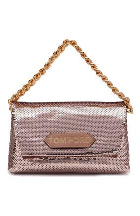 Женская сумка label mini TOM FORD розового цвета, арт. L1487T-ISA026   Фото 1 (Размер: mini; Материал: Текстиль; Женское Кросс-КТ: Вечерняя сумка)