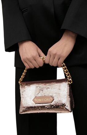 Женская сумка label mini TOM FORD розового цвета, арт. L1487T-ISA026   Фото 2 (Размер: mini; Материал: Текстиль; Женское Кросс-КТ: Вечерняя сумка)
