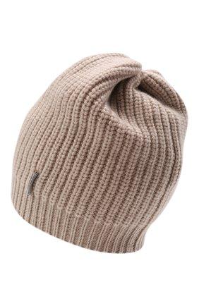 Детского кашемировая шапка BRUNELLO CUCINELLI бежевого цвета, арт. B52M50299C | Фото 2 (Материал: Шерсть, Кашемир)