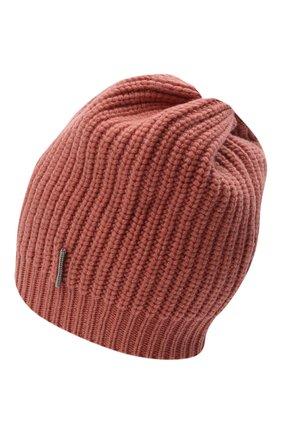 Детского кашемировая шапка BRUNELLO CUCINELLI розового цвета, арт. B52M50299C | Фото 2 (Материал: Кашемир, Шерсть)