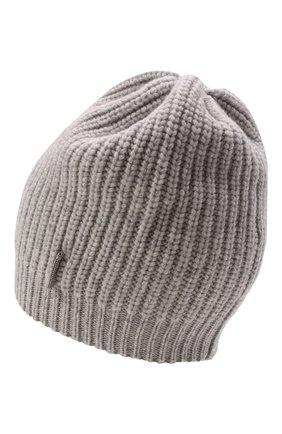 Детского кашемировая шапка BRUNELLO CUCINELLI светло-серого цвета, арт. B52M50299C | Фото 2 (Материал: Кашемир, Шерсть)