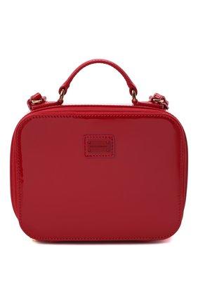 Детская кожаная сумка DOLCE & GABBANA красного цвета, арт. EB0228/A1067   Фото 1 (Материал: Натуральная кожа)