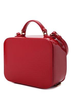 Детская кожаная сумка DOLCE & GABBANA красного цвета, арт. EB0228/A1067   Фото 2 (Материал: Натуральная кожа)