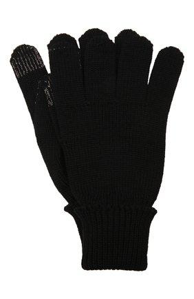 Детские шерстяные перчатки IL TRENINO темно-синего цвета, арт. 21 4056 | Фото 1 (Материал: Шерсть)