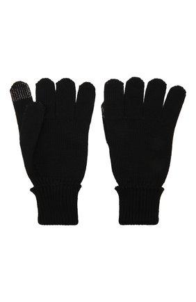 Детские шерстяные перчатки IL TRENINO темно-синего цвета, арт. 21 4056 | Фото 2 (Материал: Шерсть)