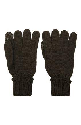 Детские шерстяные перчатки IL TRENINO хаки цвета, арт. 21 4056 | Фото 2 (Материал: Шерсть)