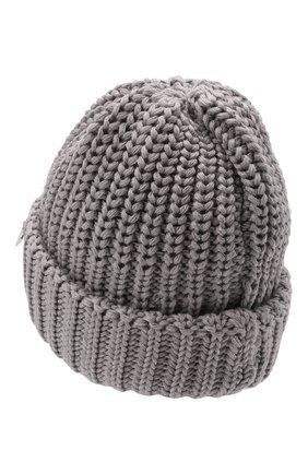 Детского шерстяная шапка IL TRENINO серого цвета, арт. 21 4057 | Фото 2 (Материал: Шерсть)