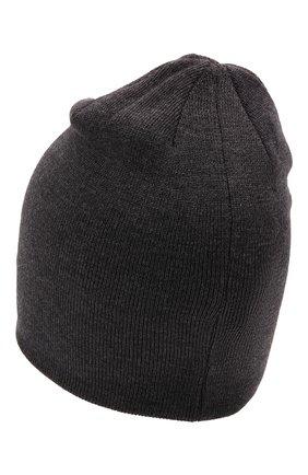 Детского шерстяная шапка IL TRENINO темно-серого цвета, арт. 21 5791 | Фото 2 (Материал: Шерсть)
