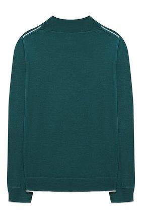 Детский шерстяной пуловер LORO PIANA зеленого цвета, арт. FAL2698 | Фото 2 (Материал внешний: Шерсть; Девочки Кросс-КТ: Пуловер-одежда; Рукава: Длинные; Ростовка одежда: 10 - 11 лет | 140 - 146см, 12 лет | 152 см, 2 года | 92 см, 4 года | 104 см, 6 лет | 116 см, 8 лет | 128 см)
