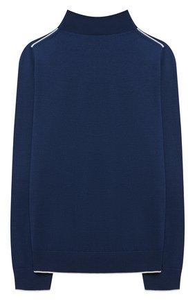 Детский шерстяной пуловер LORO PIANA синего цвета, арт. FAL2698 | Фото 2 (Материал внешний: Шерсть; Девочки Кросс-КТ: Пуловер-одежда; Рукава: Длинные; Ростовка одежда: 10 - 11 лет | 140 - 146см, 12 лет | 152 см, 2 года | 92 см, 4 года | 104 см, 6 лет | 116 см, 8 лет | 128 см)