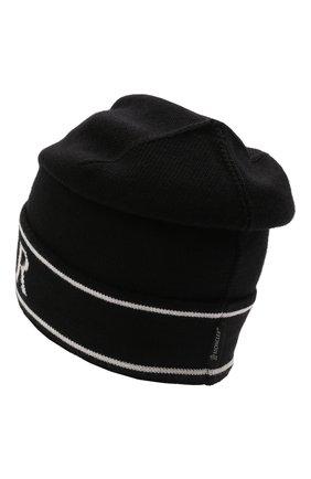 Детского шерстяная шапка MONCLER черного цвета, арт. G2-954-9Z742-00-A9641   Фото 2 (Материал: Шерсть)