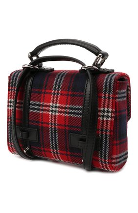 Детская шерстяной портфель DOLCE & GABBANA красного цвета, арт. EB0069/AT536   Фото 2 (Материал: Текстиль)
