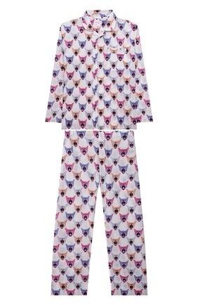 Женская хлопковая пижама DEREK ROSE разноцветного цвета, арт. 7025-LEDB046 | Фото 1 (Материал внешний: Хлопок; Рукава: Длинные; Ростовка одежда: 12 лет | 152 см, 16 лет | 164 см, 4 года | 104 см, 6 лет | 116 см, 8 лет | 128 см, 10 - 11 лет | 140 - 146см)
