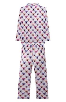 Женская хлопковая пижама DEREK ROSE разноцветного цвета, арт. 7025-LEDB046 | Фото 2 (Материал внешний: Хлопок; Рукава: Длинные; Ростовка одежда: 12 лет | 152 см, 16 лет | 164 см, 4 года | 104 см, 6 лет | 116 см, 8 лет | 128 см, 10 - 11 лет | 140 - 146см)