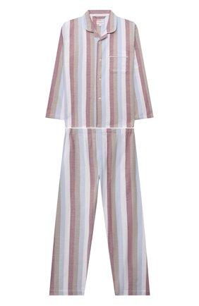 Женская хлопковая пижама DEREK ROSE разноцветного цвета, арт. 7025-KELB018 | Фото 1 (Рукава: Длинные; Материал внешний: Хлопок; Ростовка одежда: 12 лет | 152 см, 16 лет | 164 см, 4 года | 104 см, 6 лет | 116 см, 8 лет | 128 см, 10 - 11 лет | 140 - 146см)