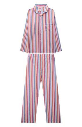 Детская хлопковая пижама DEREK ROSE разноцветного цвета, арт. 7025-CAPR018 | Фото 1 (Материал внешний: Хлопок; Рукава: Длинные; Ростовка одежда: 12 лет | 152 см, 16 лет | 164 см, 4 года | 104 см, 6 лет | 116 см, 8 лет | 128 см, 10 - 11 лет | 140 - 146см)