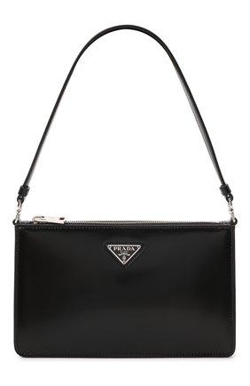 Женская сумка PRADA черного цвета, арт. 1BC155-ZO6-F0002-OOM   Фото 1 (Материал: Натуральная кожа; Сумки-технические: Сумки top-handle)