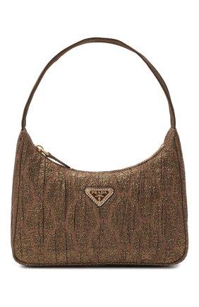Женская сумка prada re edition bag PRADA коричневого цвета, арт. 1NE515-2AH6-F02RB   Фото 1 (Материал: Текстиль; Сумки-технические: Сумки top-handle)