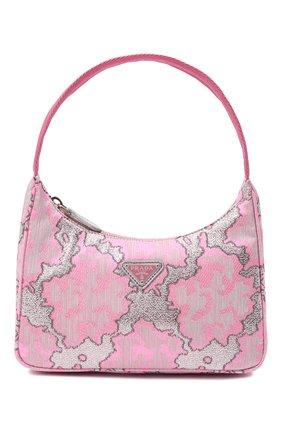 Женская сумка PRADA розового цвета, арт. 1NE515-2AH6-F02RE | Фото 1 (Материал: Текстиль; Сумки-технические: Сумки top-handle)