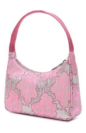 Женская сумка PRADA розового цвета, арт. 1NE515-2AH6-F02RE | Фото 2 (Материал: Текстиль; Сумки-технические: Сумки top-handle)