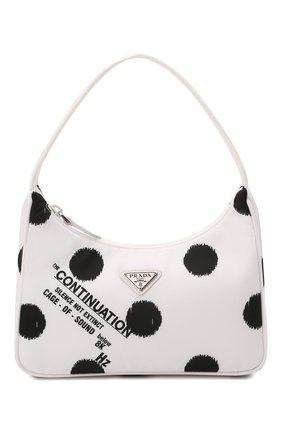 Женская сумка prada re edition bag PRADA белого цвета, арт. 1NE515-2DW9-F0009 | Фото 1 (Материал: Текстиль; Сумки-технические: Сумки top-handle)