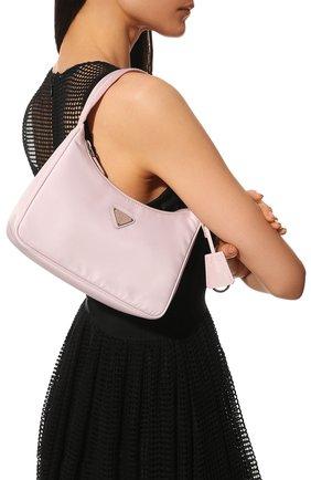Женская сумка prada re edition bag PRADA розового цвета, арт. 1NE515-RDH0-F0E18 | Фото 2 (Сумки-технические: Сумки top-handle; Материал: Текстиль)