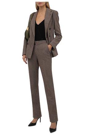 Женские шерстяные брюки RALPH LAUREN коричневого цвета, арт. 290858165 | Фото 2 (Длина (брюки, джинсы): Удлиненные; Материал внешний: Шерсть; Стили: Кэжуэл)