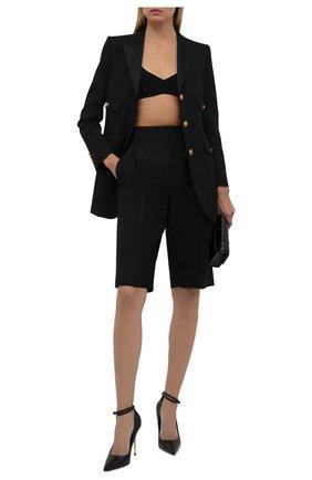 Женские кожаные туфли padlock TOM FORD черного цвета, арт. W2271T-LKD002 | Фото 2 (Материал внутренний: Натуральная кожа; Каблук тип: Шпилька; Каблук высота: Высокий; Подошва: Плоская)