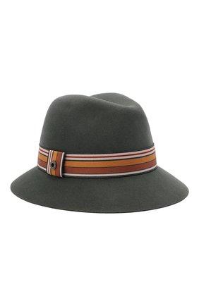 Женская фетровая шляпа ingrid LORO PIANA зеленого цвета, арт. FAI7947 | Фото 1 (Материал: Шерсть)