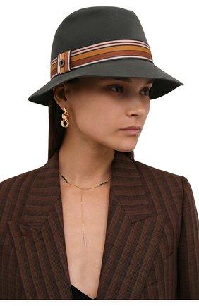 Женская фетровая шляпа ingrid LORO PIANA зеленого цвета, арт. FAI7947 | Фото 2 (Материал: Шерсть)