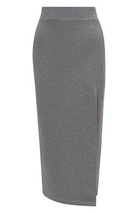 Женская хлопковая юбка REDVALENTINO серого цвета, арт. WR0MD01W/68H   Фото 1 (Материал внешний: Хлопок; Длина Ж (юбки, платья, шорты): Миди; Женское Кросс-КТ: Юбка-одежда; Стили: Кэжуэл)