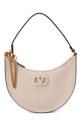 Женская сумка vsling mini VALENTINO кремвого цвета, арт. WW2P0W19/RQR   Фото 1 (Материал: Натуральная кожа; Сумки-технические: Сумки top-handle; Размер: mini)